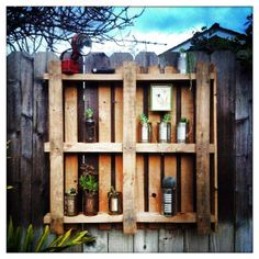 another way I found to reuse pallets. I am using it as a shelf for my #succulents . #reuse #sustainable #recycle #lemoderntrinket #handmade