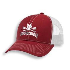 eeab5eb3210 Motorwolf Trucker Hat Red Back Strap