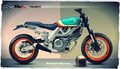 Pin by Jan Dastych on Moto Custom Motorcycles, Custom Bikes, Cars And Motorcycles, Suzuki Sv 650, Suzuki Cars, Flat Tracker, Motorized Bicycle, Cafe Racer Motorcycle, Scrambler