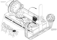 decap drawing device by broos designs record sleeves for dance organ music Organ Music, Drawing Machine, Vinyl Sleeves, Beautiful Posters, Young Designers, Behance, Custom Vinyl, Graphic Design, Drawings