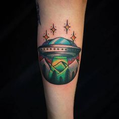 UFO Tattoo by Sammy Harding