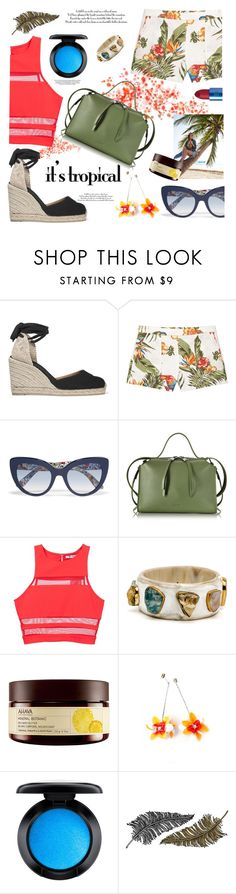 """""""Untitled #1086"""" by celida-loves-pink ❤ liked on Polyvore featuring Castañer, MANGO, Dolce&Gabbana, Jil Sander, T By Alexander Wang, Ahava, MAC Cosmetics, Paperself, Lipstick Queen and Summer"""