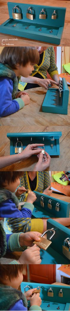 Lock and key! Montessori practical life.