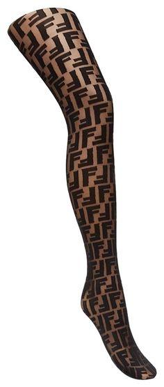 Fendi Ff Logo Large Hosiery Cute Stockings, Italian Fashion, Wardrobe Staples, Hosiery, Fendi, Tights, Women Wear, Elegant, House Styles