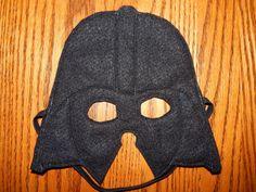 Star Wars  Darth Vader Felt Superhero Mask by OurCozyCreations, $8.00