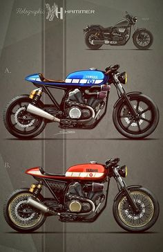 Cafè Racer Concepts - Yamaha Bolt by Holographic Hammer