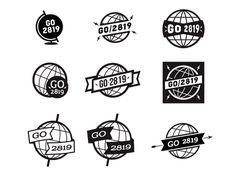 Vintage Globe Logos | Designed by: Luke Anspach | lukeanspach.com | dribbble.com/lukeanspach | @Luke Anspach