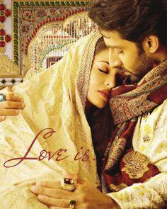 "Ashwariya rai and husband Abishek Batchan in the movie ""umrao Jaan"""
