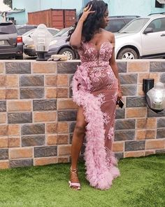 nigerian dress styles Off-shoulder lace asoebi styles are trendy at the moment and they have hit the owambe party scene with a vengeance. African Prom Dresses, Latest African Fashion Dresses, African Print Fashion, African Dress, Nigerian Lace Dress, Nigerian Dress Styles, Ankara Dress Styles, Aso Ebi Lace Styles, African Lace Styles