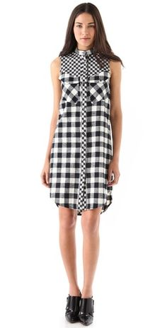 Wear it over a t-shirt dress, belted, with boots. Via @Shopbop