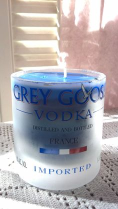 GREY GOOSE VODKA Candle made from  recycled by PattiesPassion, $19.99