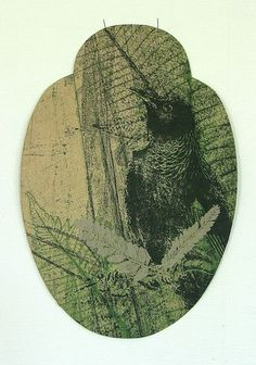 Alexis Neal, <i>Kaitiaki</i>, etching and relief on 250 x 300 mm paper, from an edition of 20, 2012. NZ$740 incl GST framed; NZ$420  incl GST unframed.