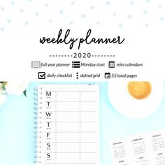 2020 Weekly Planner, Minimalistic Weekly Planner with Dotted Grid, To-Do Checklist, Mini Months | Monday Start, Printable by DesignerJaim on Etsy Goals Planner, Blog Planner, Weekly Planner, Free Blog Sites, To Do Checklist, Printing And Binding, Business Planner, Calendar Pages, Personal Planners