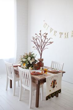 Sweet Little Peanut   Easy + darling kids Thanksgiving table design filled with great DIY ideas!