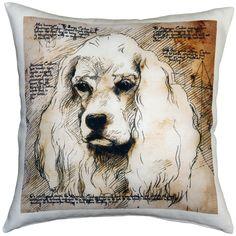 Leonardo's Dogs- American Cocker Spaniel 17x17 Dog Pillow by PillowDecorLtd on Etsy https://www.etsy.com/listing/182484005/leonardos-dogs-american-cocker-spaniel