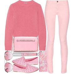 what to wear with a pink cashmere sweater 4