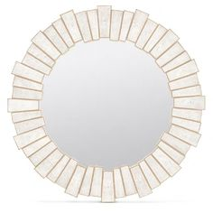 Claude Mirror in Ivory