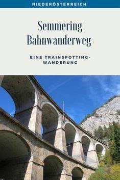 Eine Trainspotting Wanderung auf 21 Kilometern rund um Viadukte, pfeifende Züge und herrlichen Ausblicken. Streckenbeschreibung und Tipps für den Bahnwanderweg zwischen Semmering und Payerbach. #SemmeringWandern #ÖsterreichSchönsteOrte #ÖsterreichUrlaub #ÖsterreichWandern #ÖsterreichUrlaubSommer #NiederösterreichAusflug #Niederösterreich #ÖsterreichAusflugsziele #AusflügeÖsterreich #AusflugszieleinÖsterreich #Semmeringwandern #Semmeringbahn #WanderninNiederösterreich #WandertippsÖsterreich Day Trips, Road Trip Destinations, Tours, Beautiful Places, Round Round