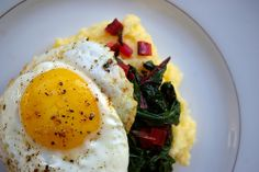 Polenta and chard with egg II by Patent and the Pantry, via Flickr