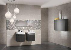 Wand-bodenfliesen für Badezimmer-Großformate in edlem Anthrazit und Graunuancen