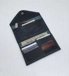 Black Leather Women Wallet  Women Wallet  Leather by YelandNec