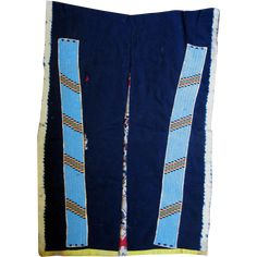 These fabulous beaded leggings on blue Stroud cloth were a gift to General Cook in 1870-1871 by Chief Red Cloud at the Pine Ridge Agency and was given