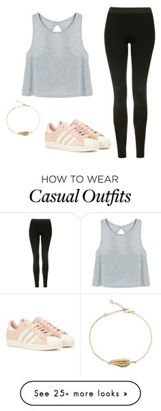"""""""Casual OOTD"""" by lilo201416 on Polyvore featuring Topshop and adidas"""