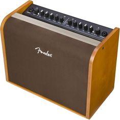 """100 watts comboforsterker for akustisk gitar med Bluetooth, 1x8"""" høyttaler, 2 kanaler med XLR/jack-inngang og innebygde effekter."""