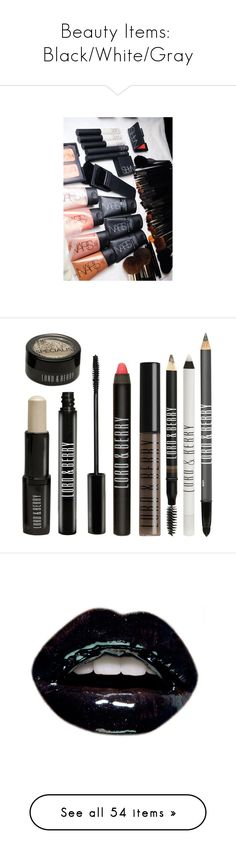 """""""Beauty Items:  Black/White/Gray"""" by jzanzig on Polyvore featuring backgrounds, makeup, pictures, beauty, photos, beauty products, fillers, accessories, cosmetics and phrase"""