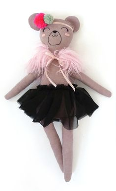 Bear+Numbered+Doll+13+by+MiniBoheme+on+Etsy,+$80.00