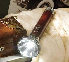 Leather LED Flashlight   Pottery Barn