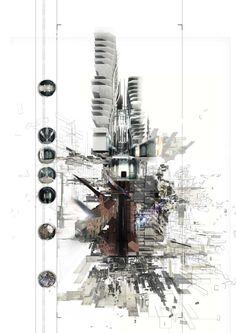 archisketchbook --arquitectura cuaderno de bocetos, un conjunto de dibujos de arquitectura, modelos e ideas - dfenton: EL EXPERIMENTO DE POST-HUMAN