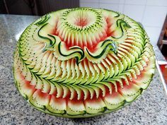 By Kansiree Srijanto Food Carving, Beach Hotels, Kitchen Art, Fruit Recipes, Food Presentation, Avocado Toast, Food Art, Watermelon, Food And Drink