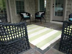 Another drop cloth project! I love it! Less-Than-Perfect Life of Bliss: Painted Canvas Rug