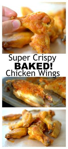 chicken crispy baked wings best ever the The Best EVER Crispy Baked Chicken WingsYou can find How long to bake chicken and more on our website Best Baked Chicken Wings, Cooking Chicken Wings, Crispy Chicken Wings, Chicken Wing Recipes, How To Cook Chicken, Crispy Oven Chicken Wings, Crispy Baked Wings, Baking Powder Chicken Wings, Baking Wings