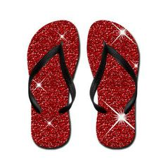 Red Ruby Slippers Flip Flops  Wizard of Oz, It's all about the shoes - ruby red slippers