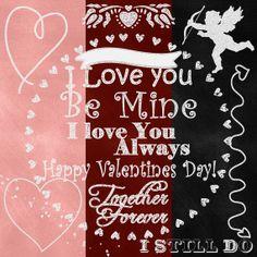 14 Chalk Overlays Chalk Shaded PNG Valentine by SHABBYHAPPYDesigns, Valentine Wedding Anniversary
