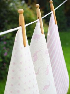 Candy Pink Collection Linens by Peony and Sage, coming onto our site next week. Lovely.