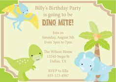 7th Birthday Dinosaur Free Printable Birthday Invitation Template