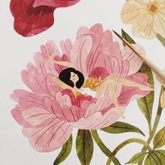 """4,949 Me gusta, 52 comentarios - Oana Befort (@oanabefort) en Instagram: """"Painting flower/plant ladies.. ✨"""""""