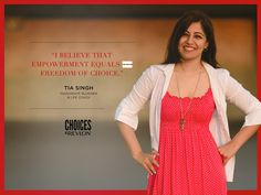 As Revlon India's Key Opinion Leader on Empowerment for the month of November, I share how I broke away from tradition as an Indian woman, and the most unconventional empowering choice I made to do so. Check out my story :) ~ Tia.