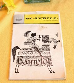 Playbill Magazine for Theatregoers, Camelot, March 1964. $7.00, via Etsy.