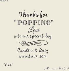Popcorn Bag Stamp