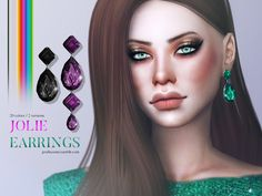 Sims 4 CC's - The Best: Jolie Earrings by Pralinesims