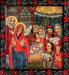 The Nativity - ICONART Contemporary Sacred Art Gallery Religious Images, Religious Icons, Religious Art, Holly Pictures, Jesus Art, Biblical Art, Ukrainian Art, Christmas Drawing, Orthodox Icons