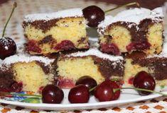 Višňová bublanina s kúskami čokolády Czech Desserts, Relleno, Tiramisu, Cereal, French Toast, Cheesecake, Nutella, Food And Drink, Baking