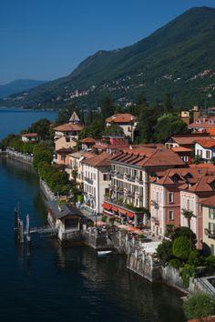 Townscape of Cannero Riviera, Verbano-Cusio-Ossola Province, Italy