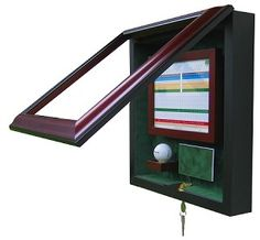 Exquisite Wood Glass Golf Ball - Scorecard Hole-In-One Display Case