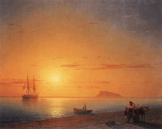 Sea coast. Farewell - Ivan Aivazovsky - Completion Date: 1868