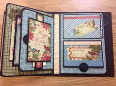 Two pages of a scrapbook album
